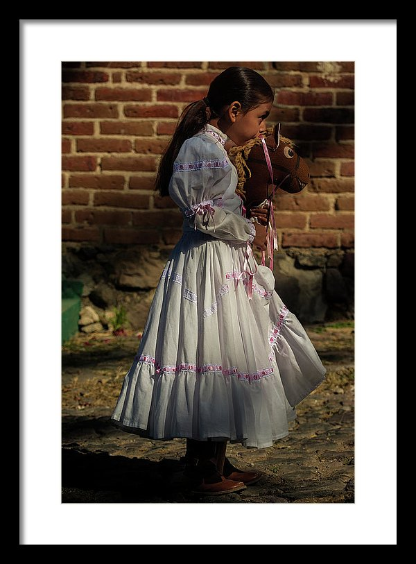 Adelita on Revolution Day in Mexico framed print