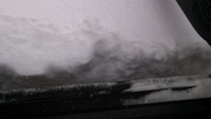 Snow over the floor level of my Saturn Ion