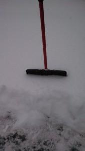 Standard shovel in snow