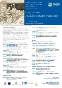 Journées d'études médiévales
