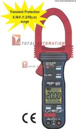 KM-2772-Kusam Meco-2000 A AC TRUE RMS DIGITAL CLAMP METER WITH NON-CONTACT EF-DETECTION