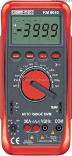 KM 6040-AUTO RANGING DIGITAL MULTIMETER WITH TERMINAL BLOCKING SYSTEM-KUSAM MECO