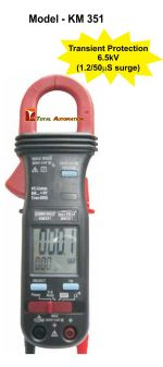KM-351-BALANCE LOAD PHASE TRMS POWER CLAMP-ON METER
