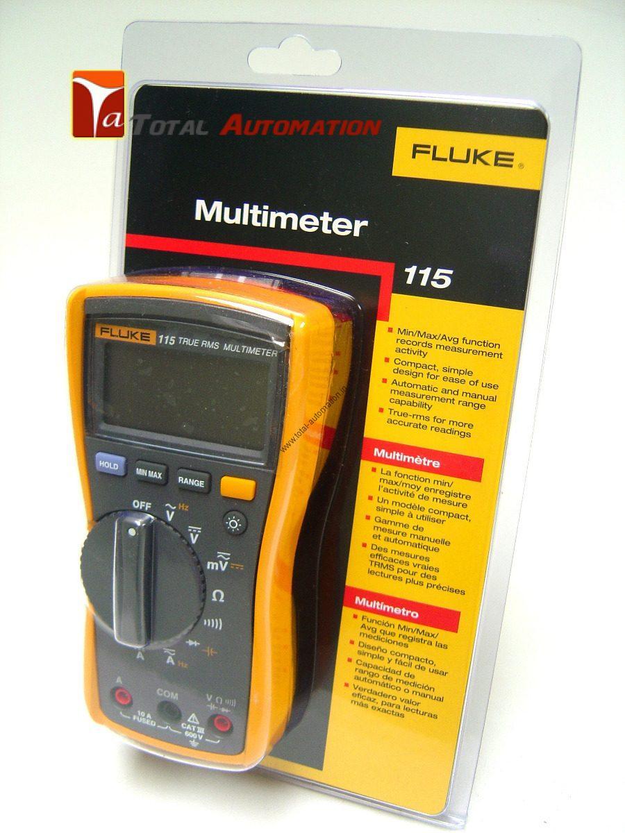 Fluke 115 Multimeter : Fluke digital multimeter v yr warranty fast