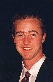 Portrait of a young Edward Norton smiling