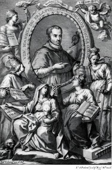grabado de Juan de Palafox y Mendoza