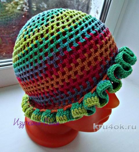 Детские шапочки, связанные крючком. Работа Ольги Изуткиной вязание и схемы вязания