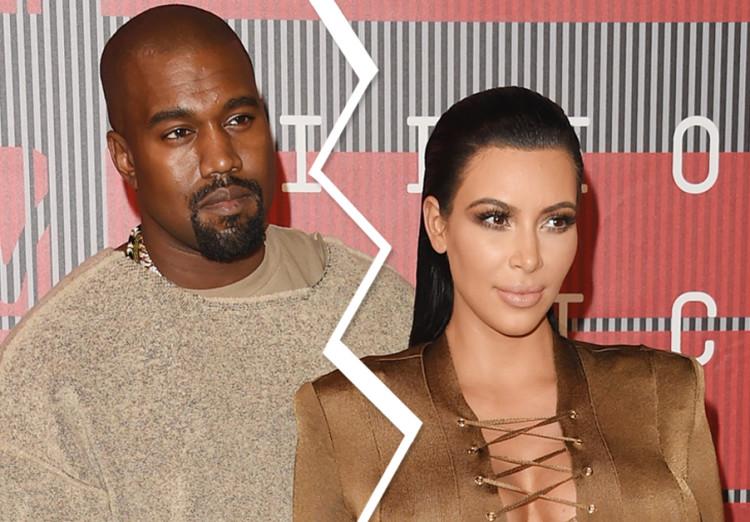 Kim kardashian and kanye west break up news