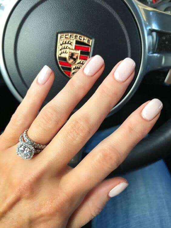Classic Airy Pink Neutral Nails