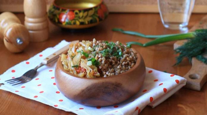 Капуста с гречкой рецепт