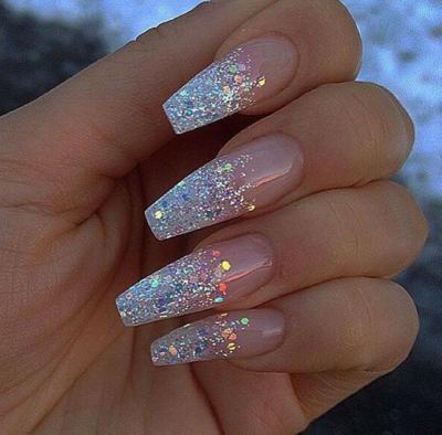 Glitter gel nails tumblr