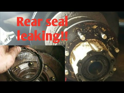 2005 f350 rear axle seal replacement