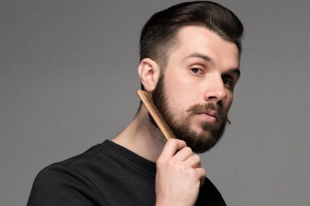 голливудская борода с усами