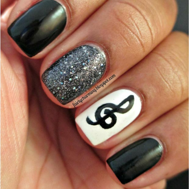 Black designs for nails