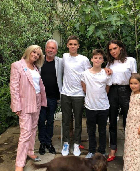 Victoria posted a lovely family picture in the midst of the 'nonsense' claims