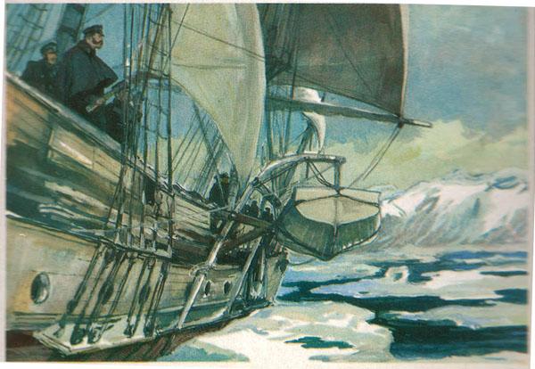 Открытка из комплекта «Русские путешественники и мореплаватели». Ф.П.Литке