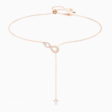 Pink swarovski crystal necklace