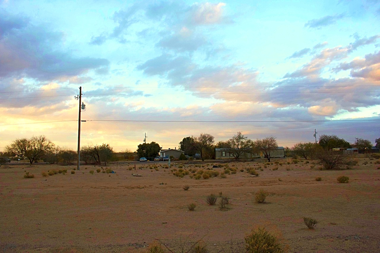 Beautiful Sunset Views from the front of the Vacant Land in Pinal County