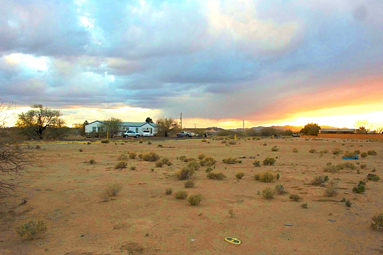 Another Mobile Home Neighbor with Right at Sunset Showing the Incredible Views