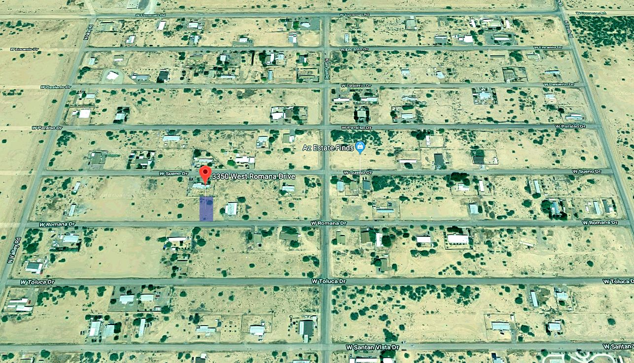 Map Showing Lot Boundaries in the Toltec Arizona Valley Subdivision for Mobile Homes