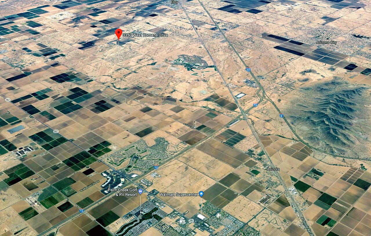 First Map of Casa Grande and Lot Location next to Eloy