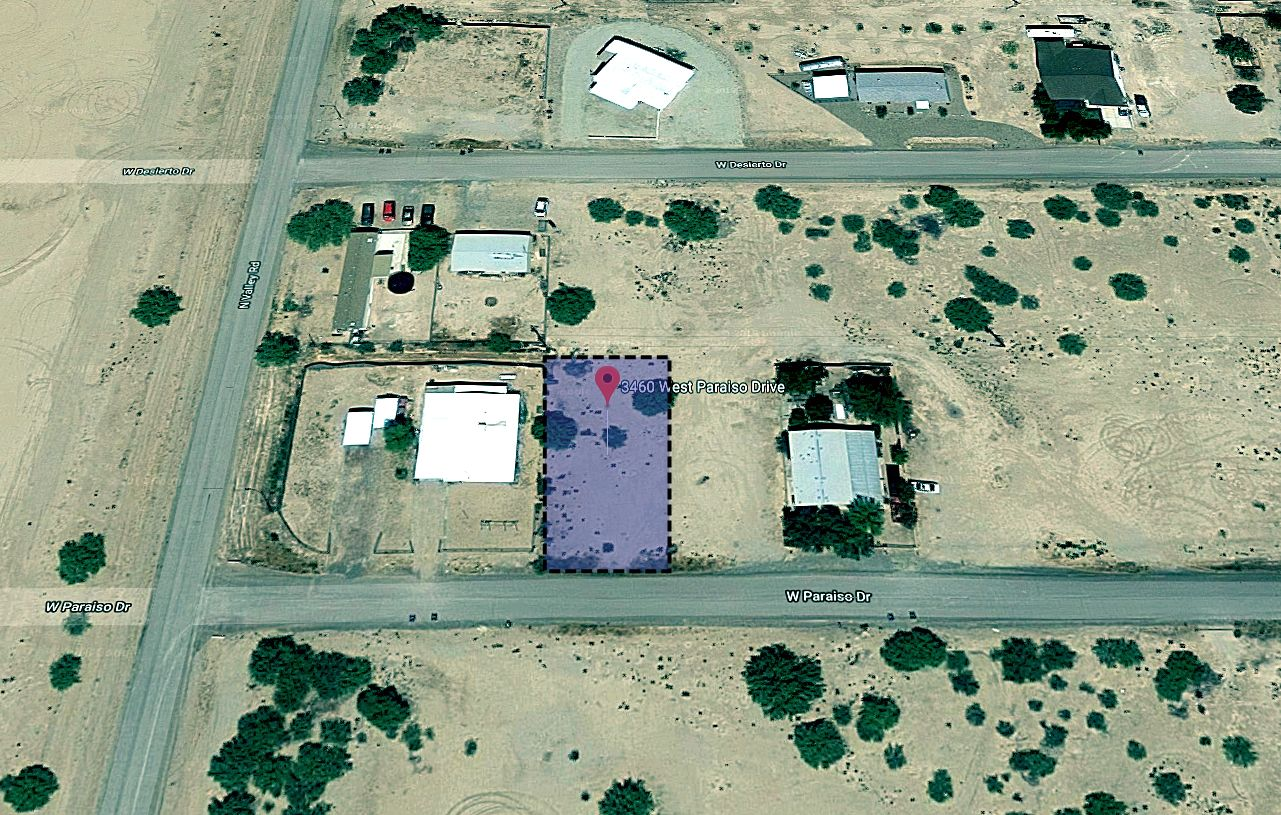 Map Showing Boundaries Outline of the Land for Sale at 3460 W Paraiso Dr