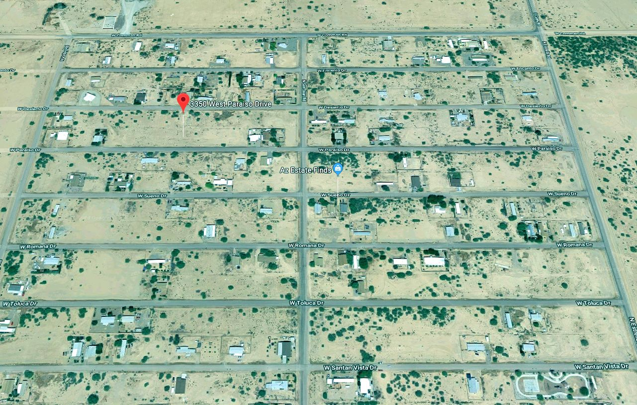Map Showing Toltec Arizona Valley Neighborhood just oustide of Casa Grande East