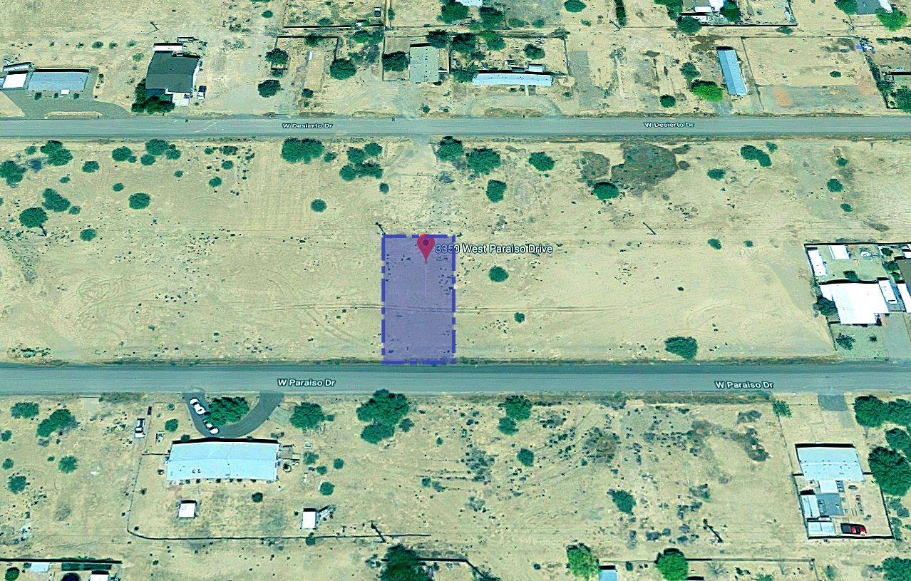 Map Showing the Land Boundaries on Paraiso Dr in Eloy Arizona