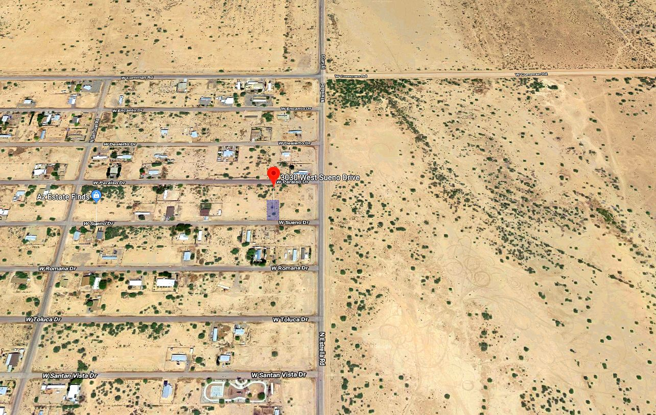 Map Showing the Land in the  East Side of Toltec Arizona Valley in Pinal County Arizona