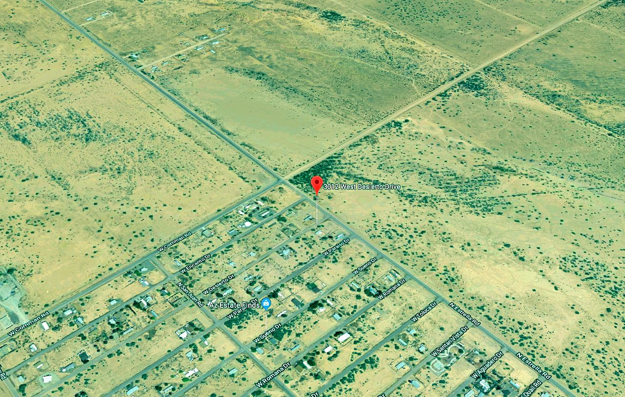 Map Showing Corner of Estrella and Cornman on the way to Casa Grande