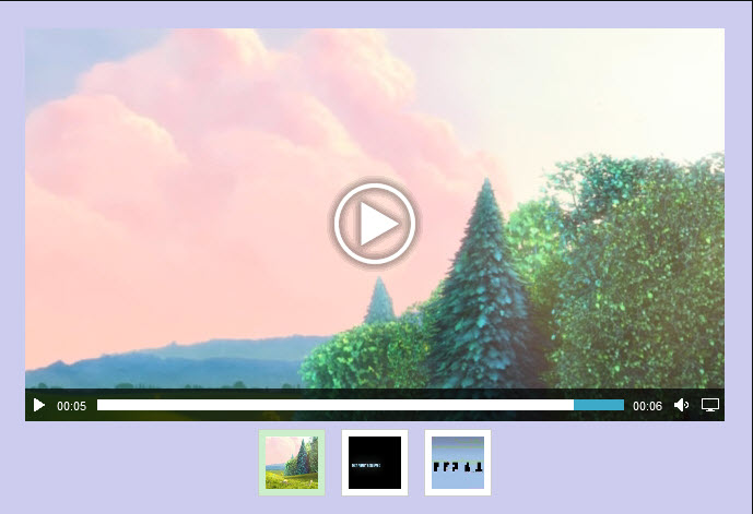 Html5 video gallery with thumbnails