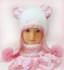 шапка принцессы крючком