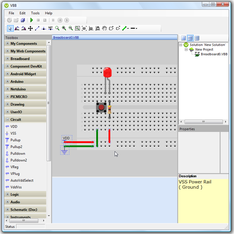 VirtualBreadboard freeware screenshot