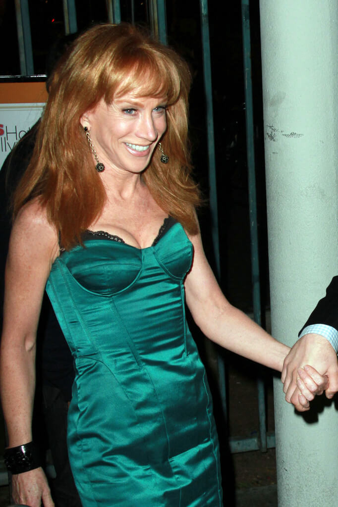 Kathy Griffin hot green dress