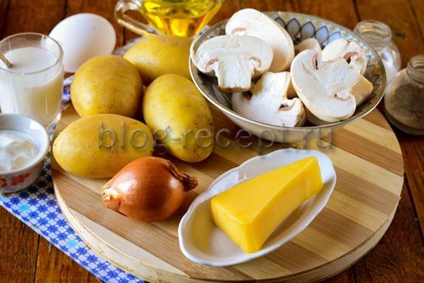 Картошка запеченная в сметане в духовке с сыром
