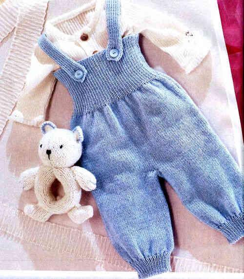 Вязание спицами полукомбинезон для малышей