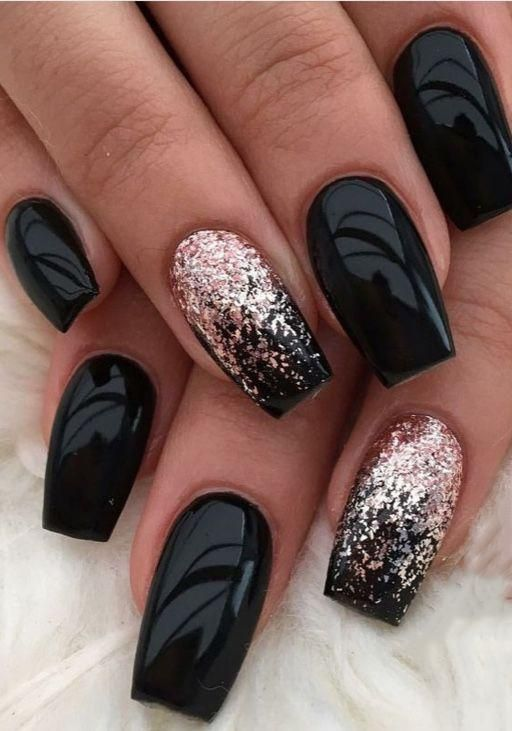 Cute designs for black nails