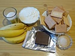 Торт из печенья и банана