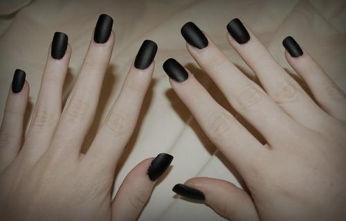 Painted nails fetish