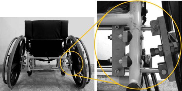 Rear wheel camber adjustment