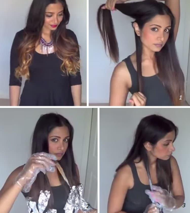 Узнайте также, как покрасить кончики волос.