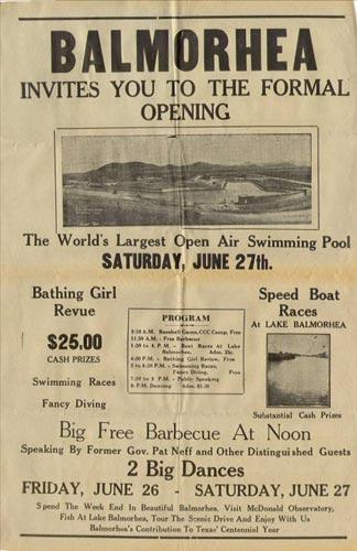 Balmorhea Grand Opening in 1941