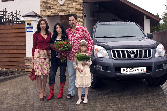 Валерий Меладзе и Ирина Меладзе с детьми