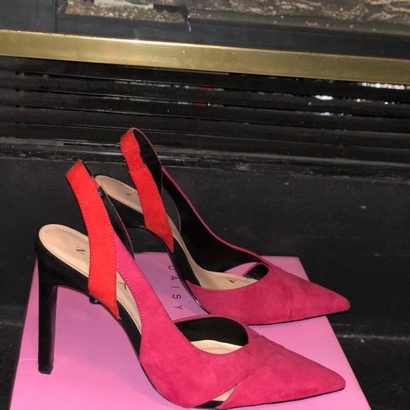 Zara pink and orange shoes