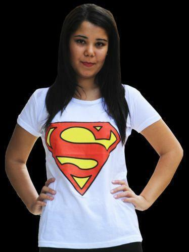 Womens pink superman shirt