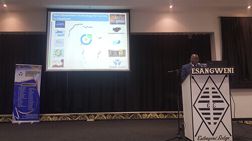 Mr. Paul Wambua presenting CiTiUS Core Banking at the SACCO Indaba program 2017 organized by SAASCO - Swaziland