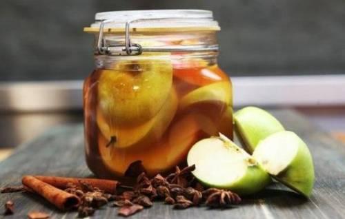 Яблоки маринованные с уксусом