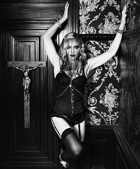 Мадонна на фотосессию