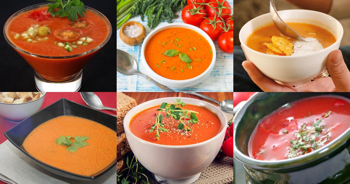 Суп томатный из свежих помидор