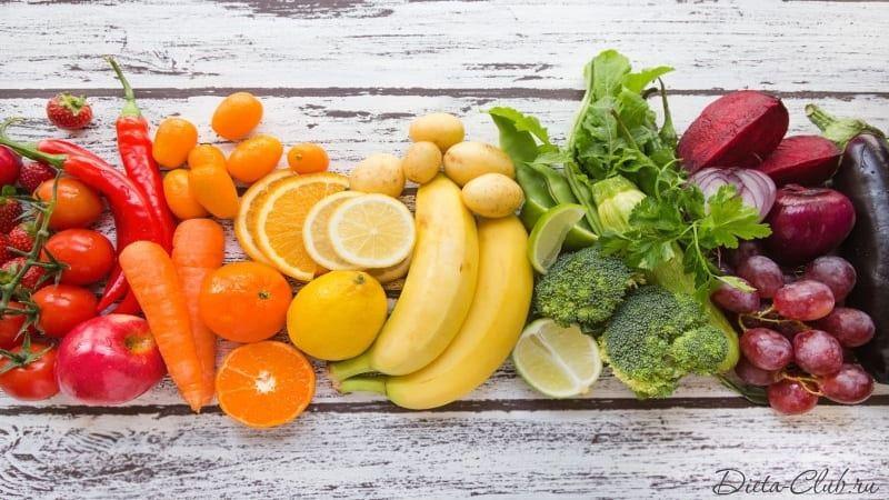 Овощи и фрукты на правильном сыроедении